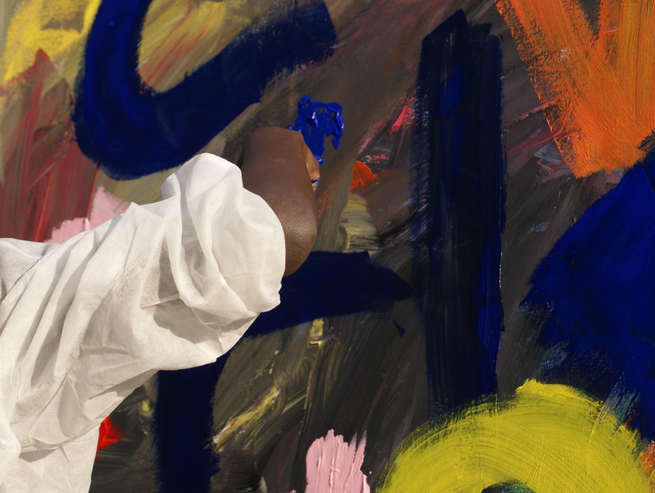 Médiation = peinture libre plein air
